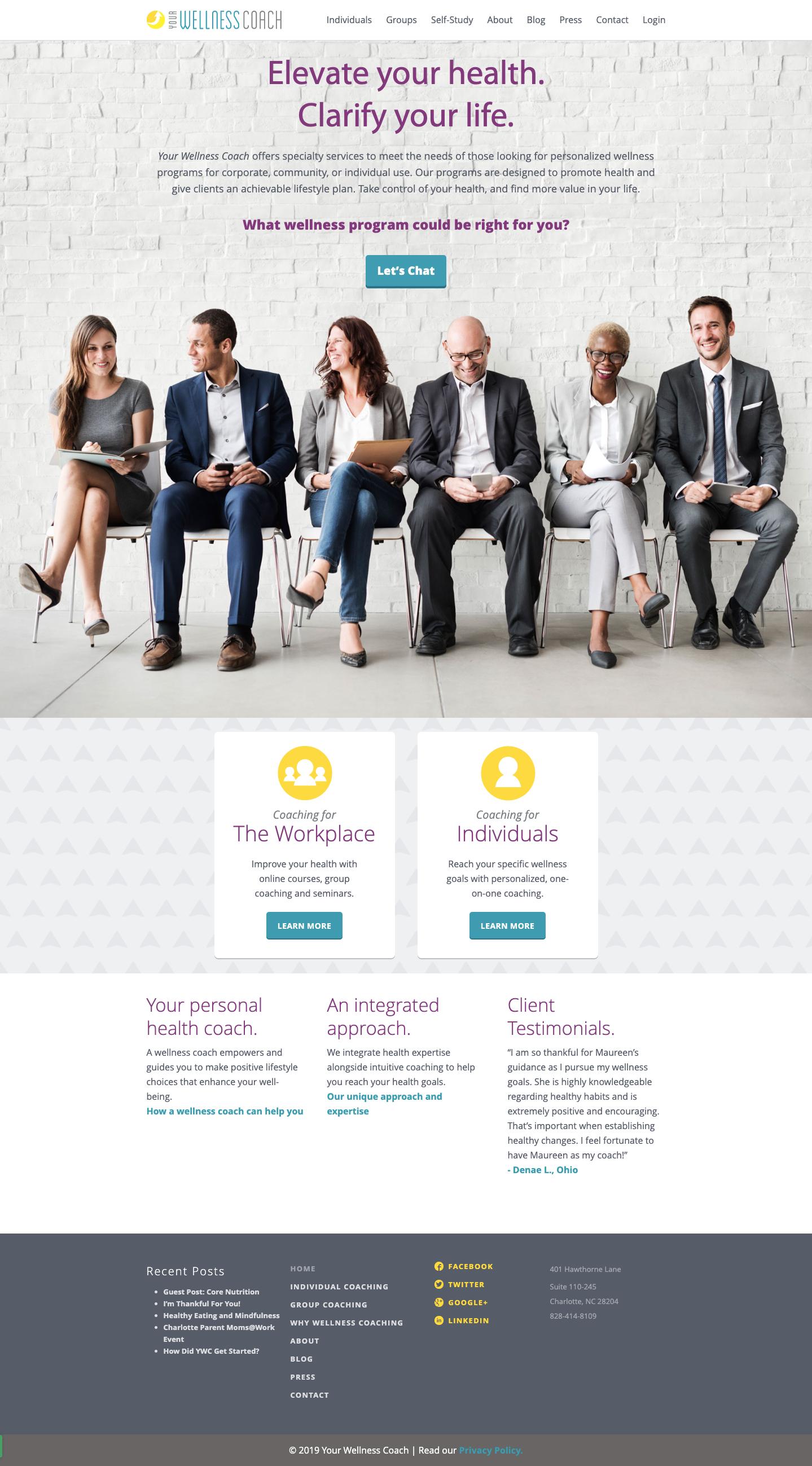 your wellness coach website
